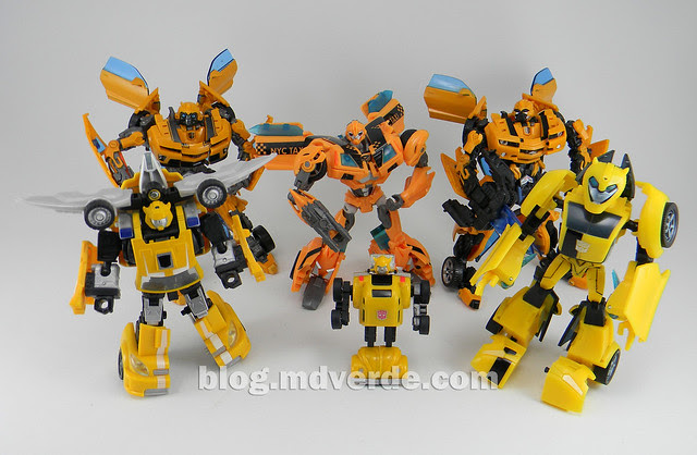 Transformers Bumblebee Deluxe - Transformers Prime - modo robot vs Bumblebees