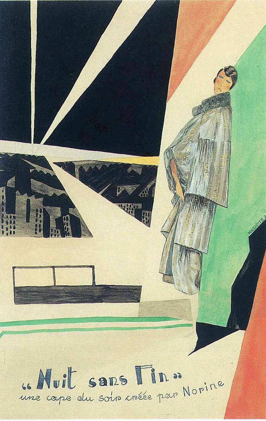 "Advertisment for ""Norine"", 1925Rene Magritte"