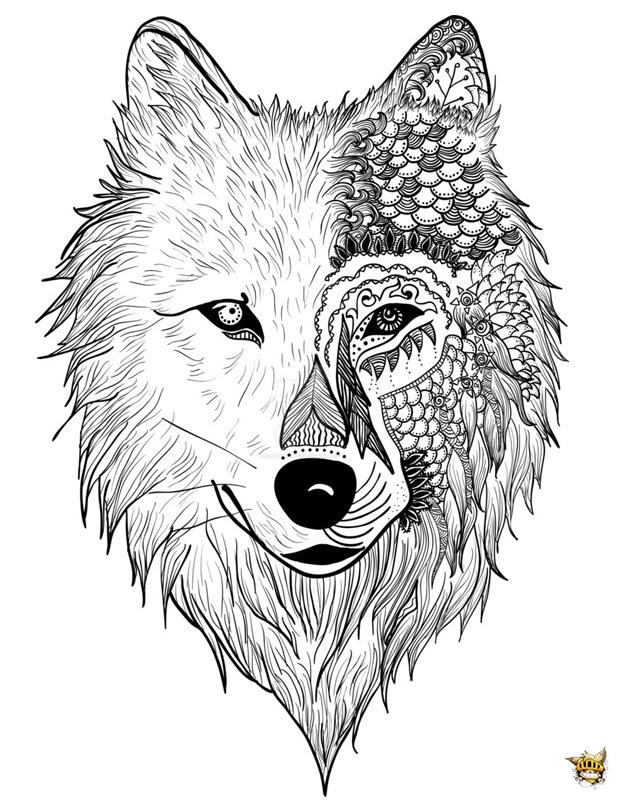 Coloriage Monstre Loup Pour Adultes