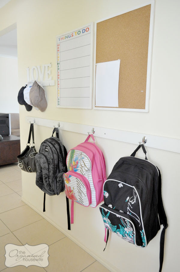 Inspiring} More great school bag nooks : The Organised Housewife