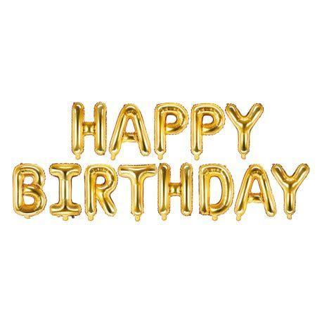 Foil balloon Happy Birthday   Gold   Yesido.cloud