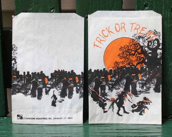Topstone Industries Vintage Halloween Trick or Treat Bags Unused