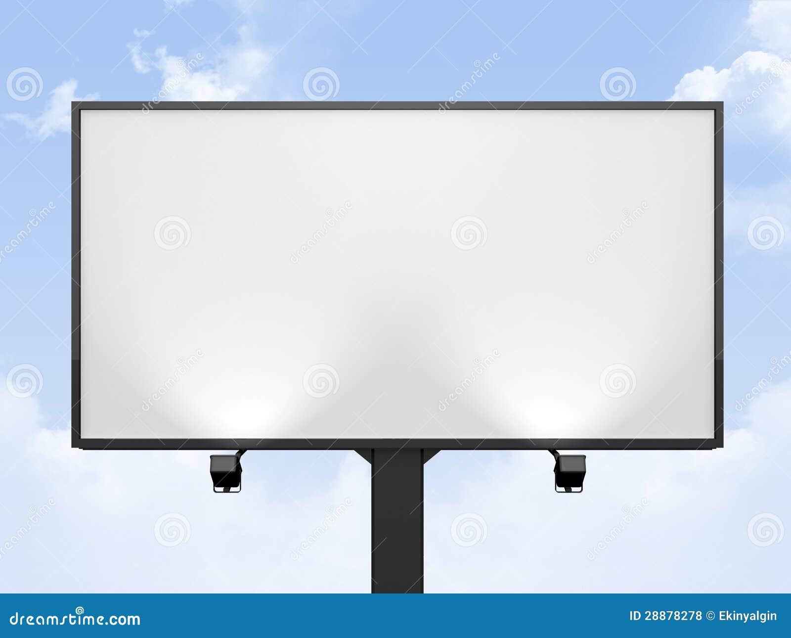 Blank Billboard Royalty Free Stock Photos - Image: 28878278