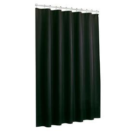 "allen + roth 72""W x 70""L Black Shower Curtain"