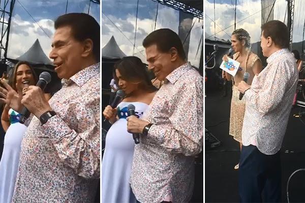 Silvio Santos na festa de final de ano do SBT
