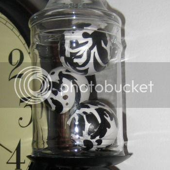 Damask Apothecary Jars