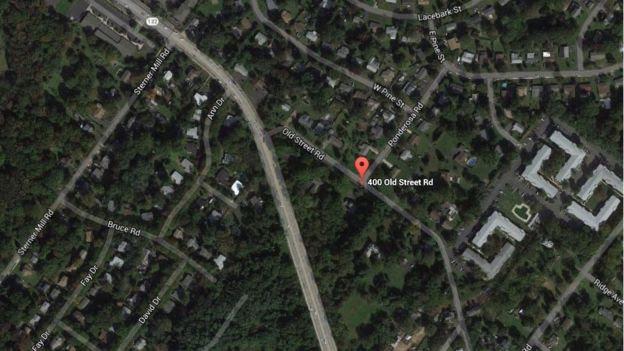Foto aérea da localidade rural onde viviam Lee Kaplan e as meninas