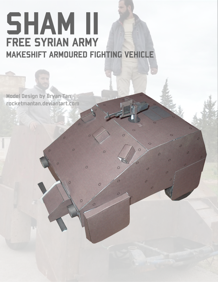 SHAM II Syrian Homemade Tank Papercraft