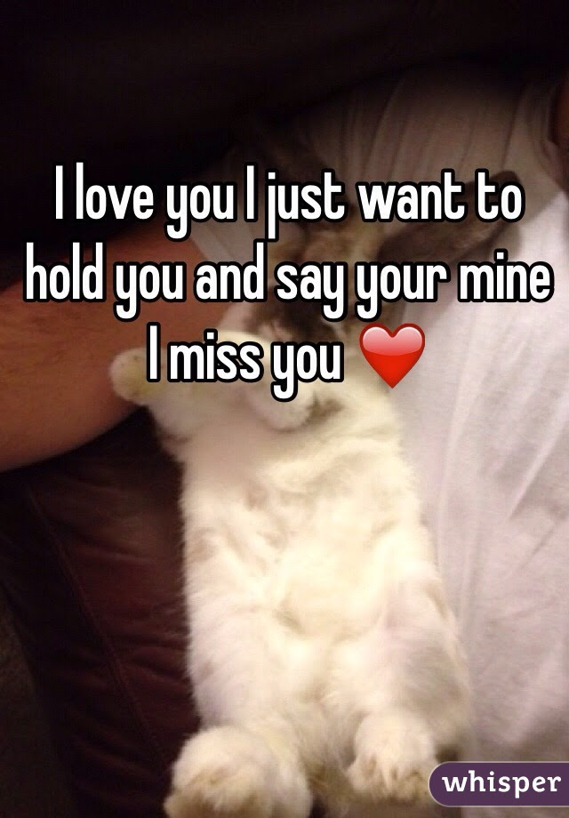 I Love You I Just Want To Hold You And Say Your Mine I Miss You