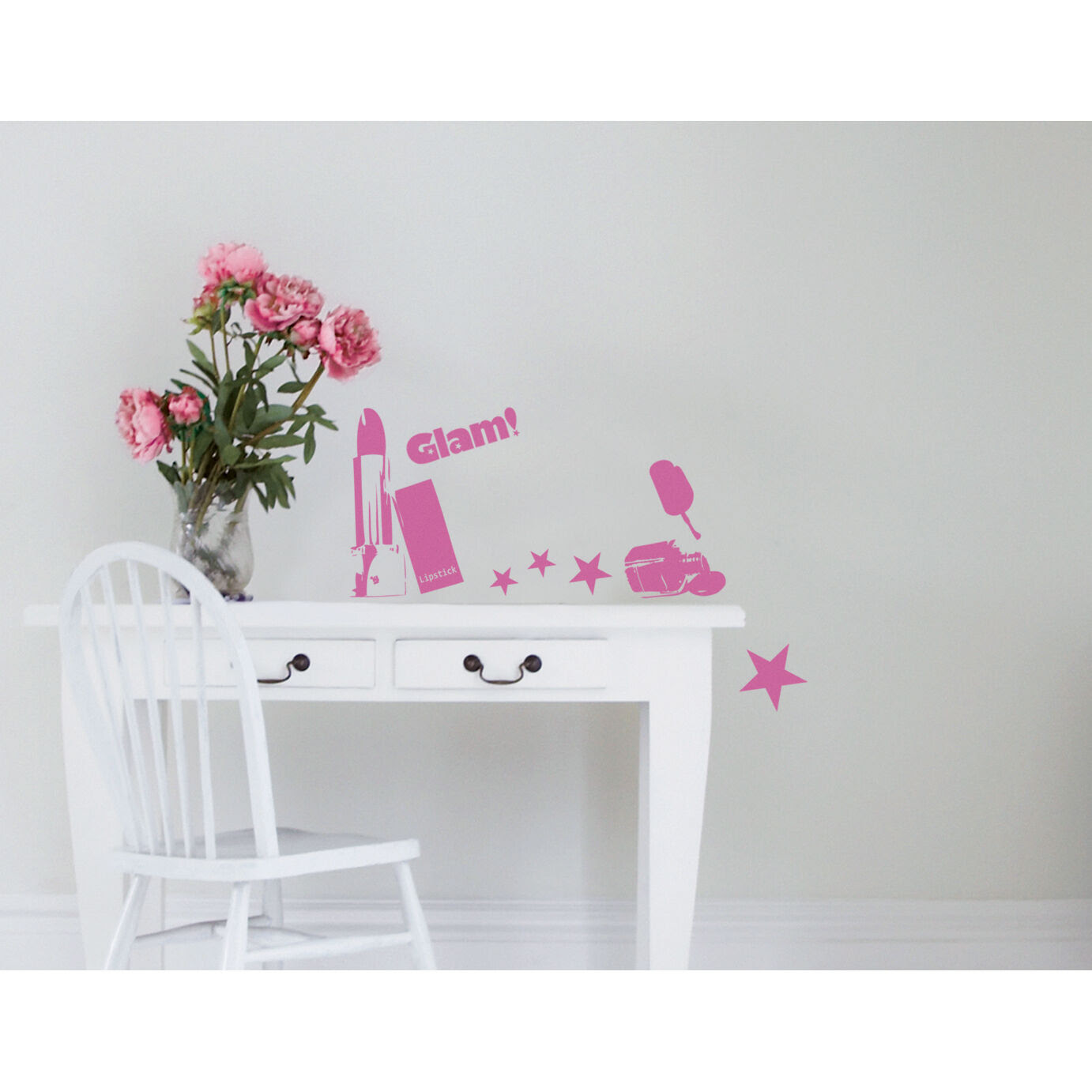 Glam Theme Wall Decal Stickers Bedroom Girl Teen Teenager Child ...