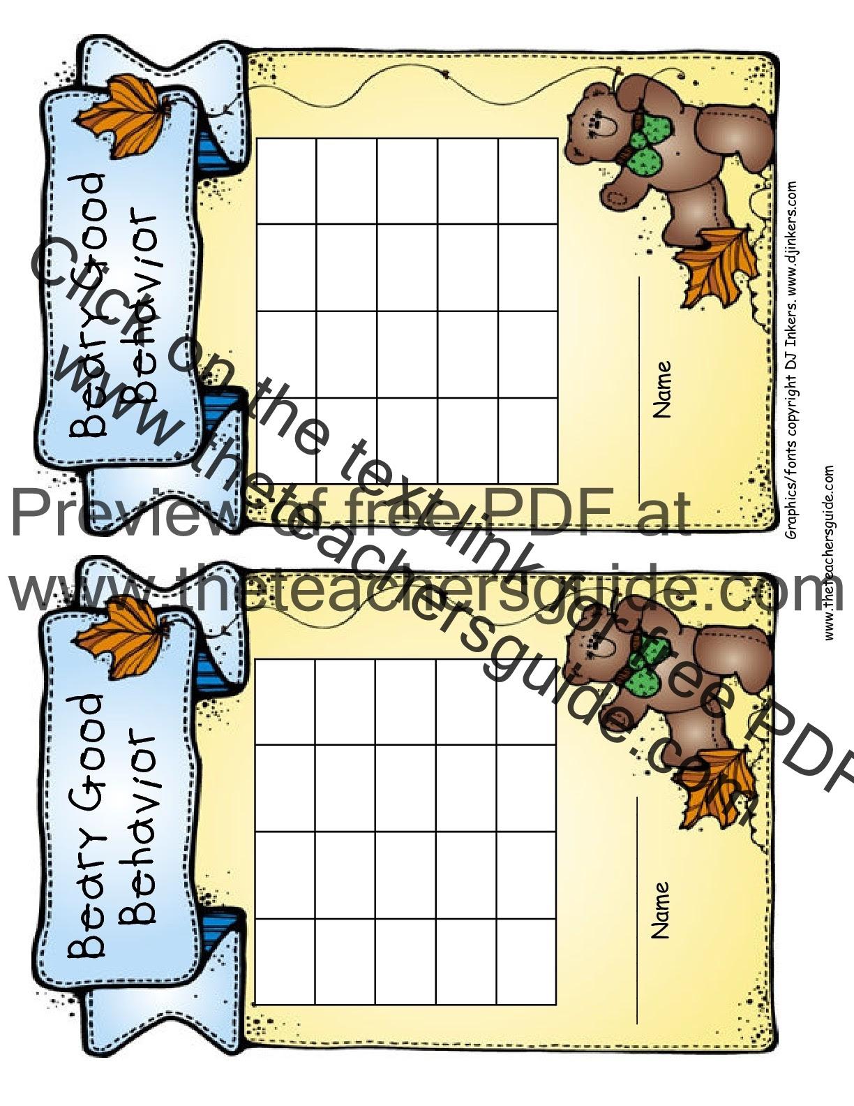 bearygoodbehaviorchartcolor 001 001