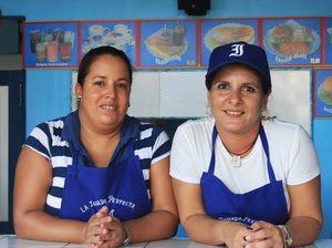 """The Perfect Play, a baseball-themed snack bar, is quickly becoming famous  among fans of Havana's beloved team, the Industriales. On the menu: coffee, milkshakes and sandwiches such as the """"Dead Ball"""" (tuna)."""