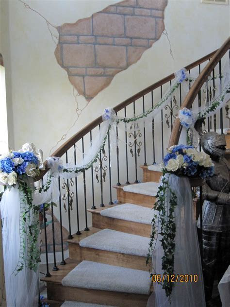 Sis n law's wedding staircase; at the castle, the tulle