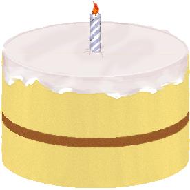 English: A birthday cake