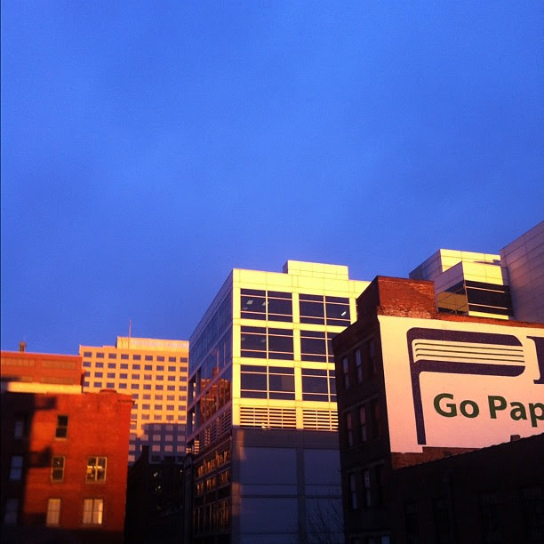 sure.... now the sun decides to pop out #cincinnati #downtowncincy
