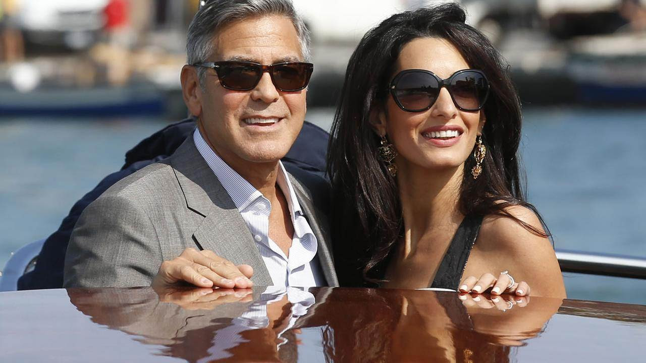 George Clooney marries human rights lawyer Amal Alamuddin in Venice