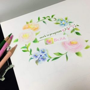 Beltaのcolored Pencil Gallery 色鉛筆ギャラリー 教室7月
