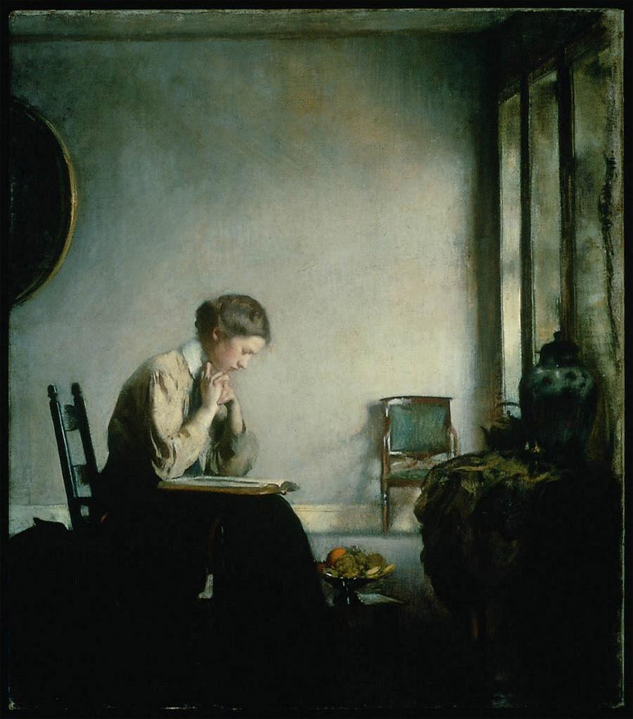 Edmund C. Tarbell, Girl Reading