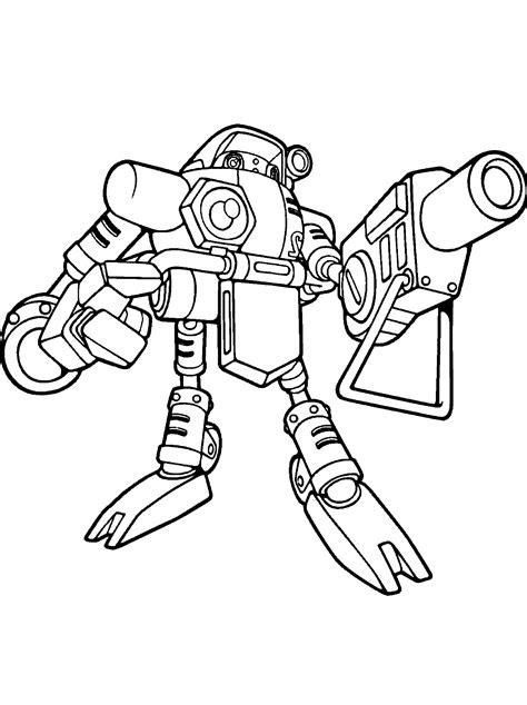 coloring page robot gamma