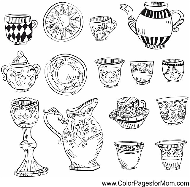 Coloring pages for adults - coffee coloring page 4