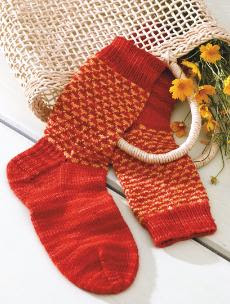 Bright Tweed Socks knitting pattern