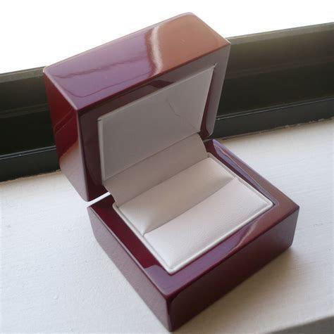 WOMEN'S MEN'S CHERRY WOOD RING BOX for engagement or