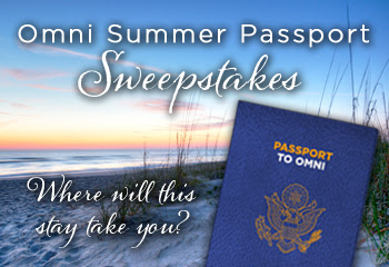 Enter to win a trip to Sao Paulo, Los Angeles, Amelia Island, Rome, or London in the Omni Summer Passport Sweepstakes. Ends 8/25