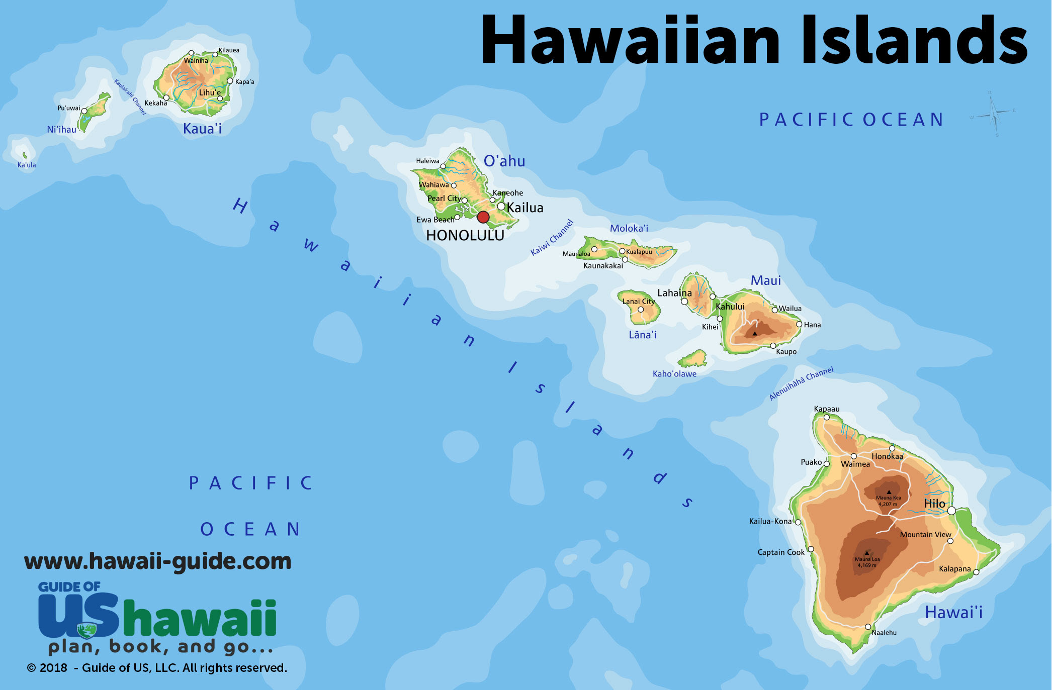 Hawaii Travel Maps