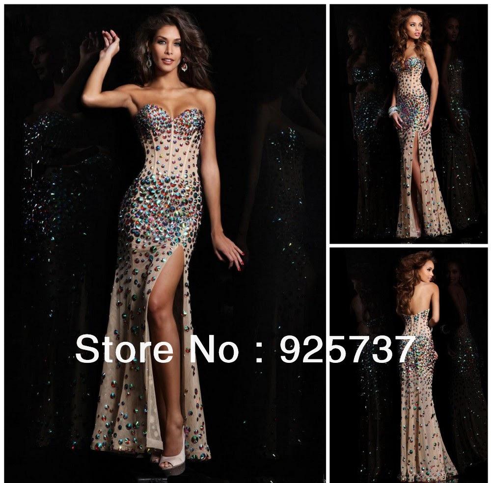 Beaded evening dresses