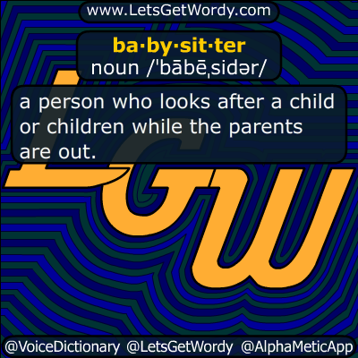 babysitter 10/15/2017 GFX Definition