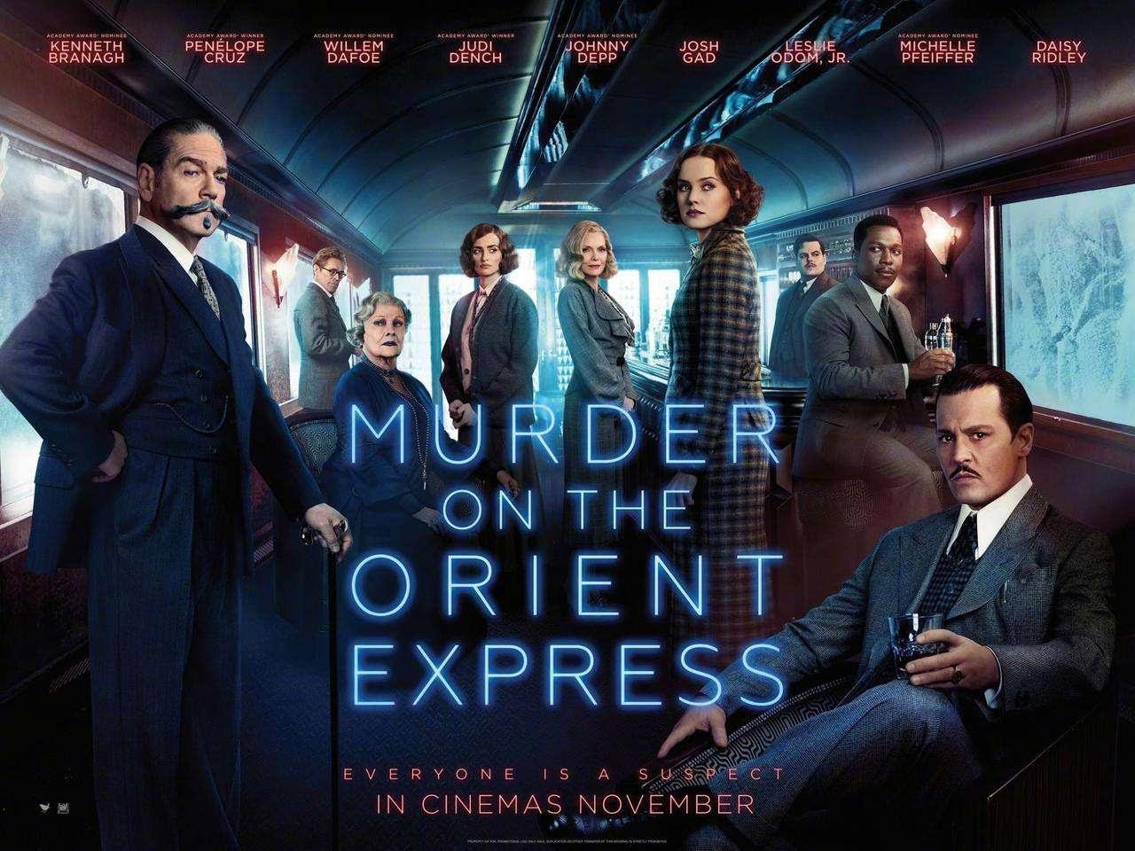 Έγκλημα στο Οριάν Εξπρές (Murder On The Orient Express) Quad Poster Πόστερ