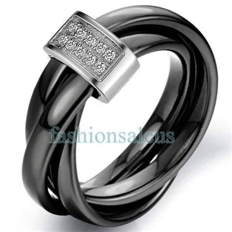 3mm Black Ceramic Rope w/ Silver Color Loop Tricyclic
