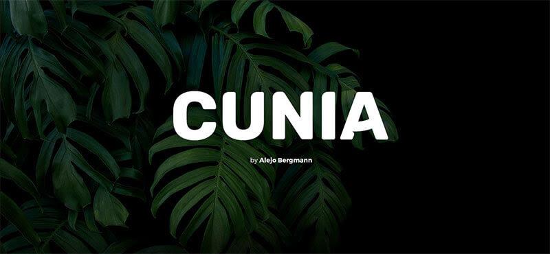 cunia-free-font