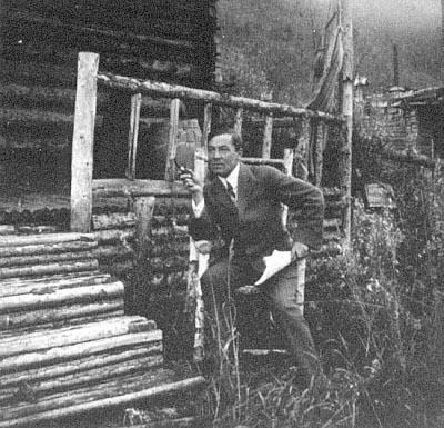 Robert Service and his cabin at Dawson City