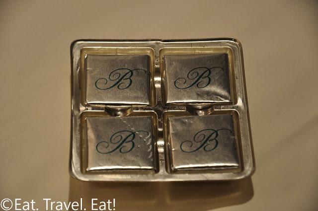 Bellagio Night Time Chocolates Detail
