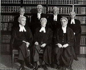The composition of the High Court in 1952, bef...