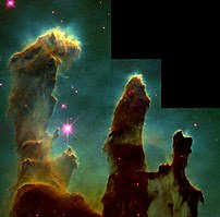 "The ""Pillars of Creation"" from the E..."