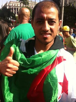 O argelino Mohamed Moulkaf (Foto: Flávia Mantovani/G1)