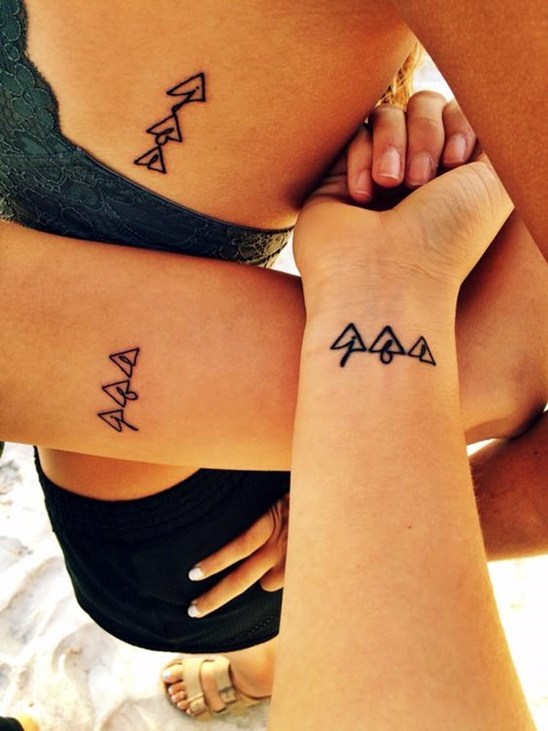 Adorable Sisters Forever Tattoo Design Ideas (31)