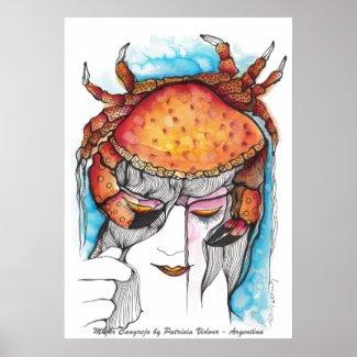 Crab Woman Print
