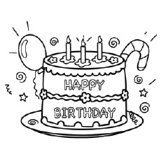 Happy Birthday Coloring Pages - Free Printables