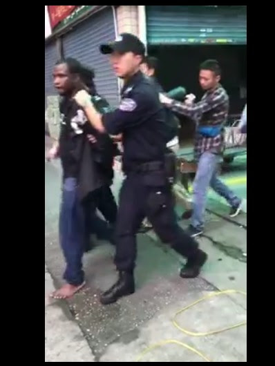 Fleeing Nigerians Arrested As Police Operatives Storm Market In China (Pics, Video)