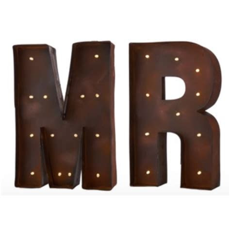 Carnival LED Light Up Wall Letters   MR   Decorative