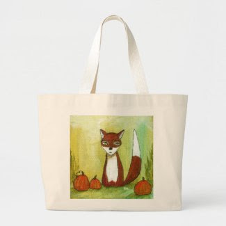 Making Choices Woodland Fox Art Painting Tote Bag