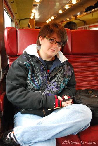 Jamie on the Notch Train