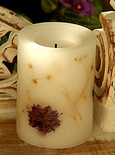 Candle Impressions Battery Operated 4 Inch Round - Dried Lavender ...