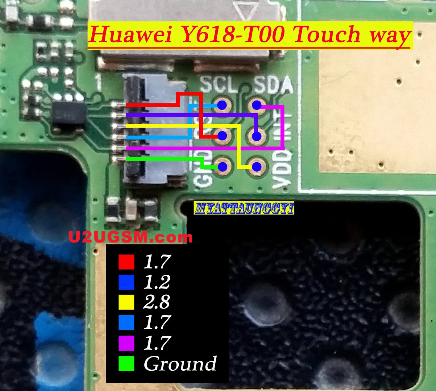 Huawei Y618 touch screen not working problem solution jumpers