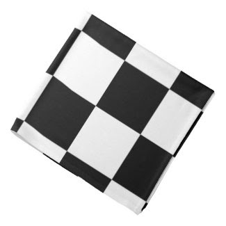 Checkered Black and White Bandana