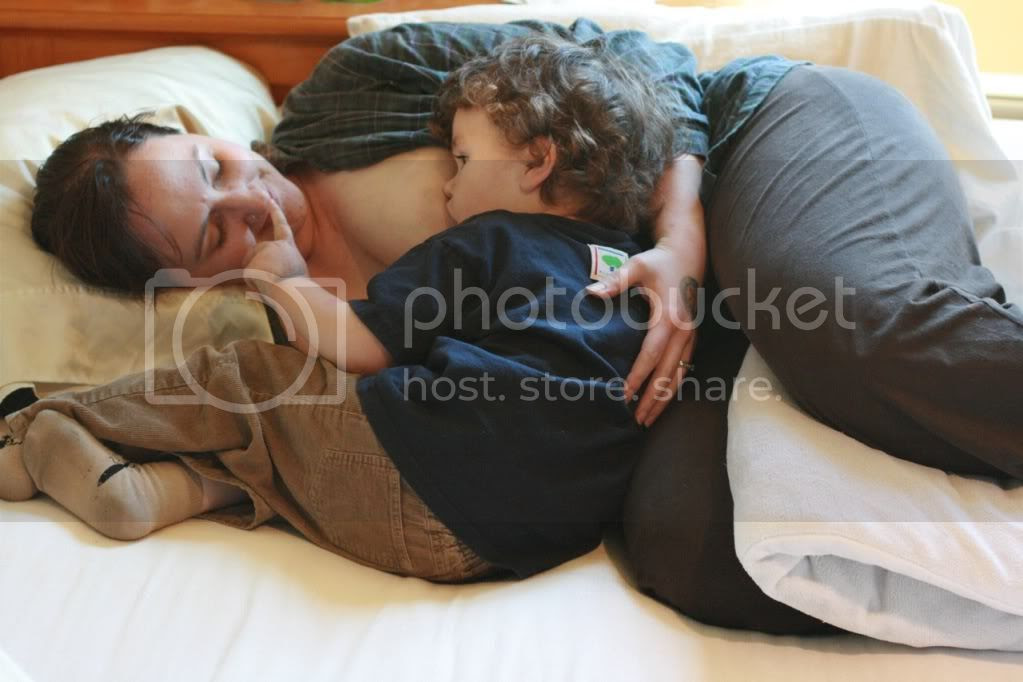 Image result for Mother lying on her side Breastfeeding