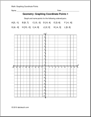 All Worksheets » Free Printable Coordinate Graphing Pictures Worksheets  Printable Worksheets